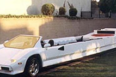 The Lamborghini Countach super stretch limousine.