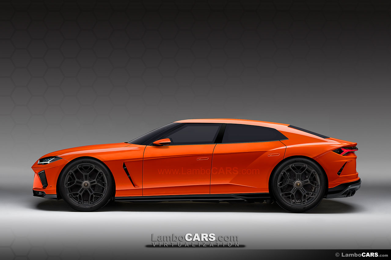 There is a rumor about Lamborghini adding a fourth model to the lineup after the success of the Urus, and this might be a return to the GT class with a front-mounted engine ... so if we take inspiration from the Urus and translate that into a design for a four-door Super Sedan we might end up with a design like this. The crazy LM002 6x6