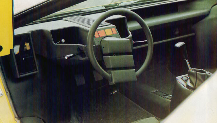 Interior of the Countach prototype
