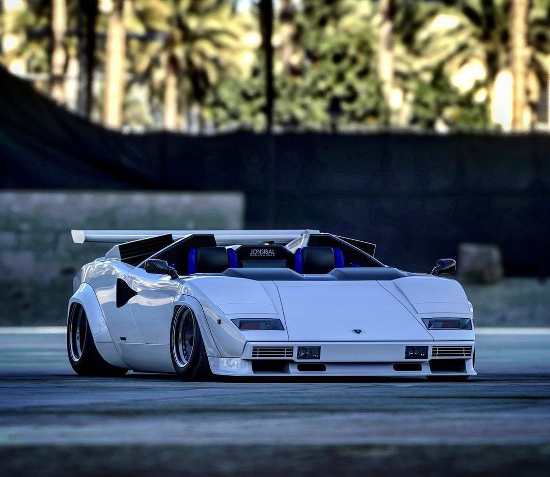 We will probably never see a Countach Speedster or Barchetta in real life, but I have already seen convertible versions of a Countach replica, so that might be another possibility.
